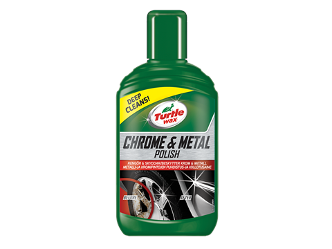 TURTLE WAX CHROME & METAL POLISH 300ML